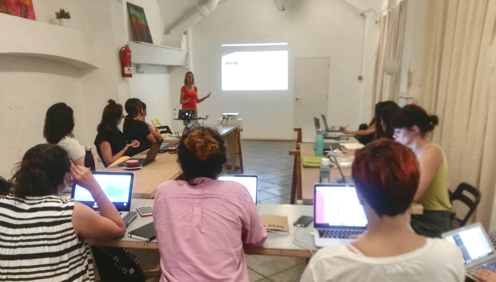 AllWomen - the first workshop of AllWomen about chatbots with susana duran and women in tech